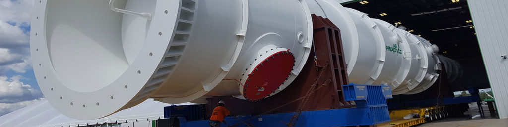 Photography of LNG Heat Exchanger being transported via trailer