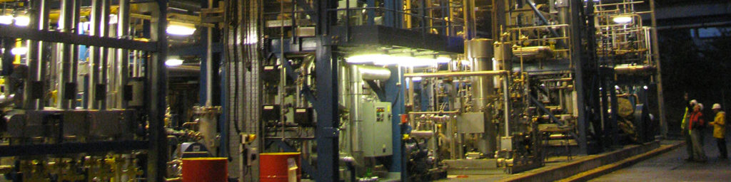 Photograph of a new LNG plant that has Rotoflow turbomachinery